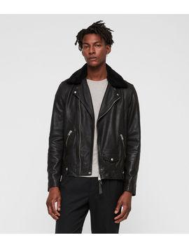 Brett Leather Biker Jacket by Allsaints
