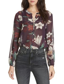 Theodora Floral Silk Blouse by Dolan