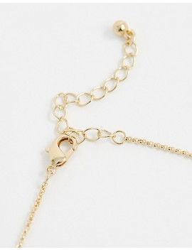 Asos Design Necklace With Dragonfly Pendant In Gold by Asos Design