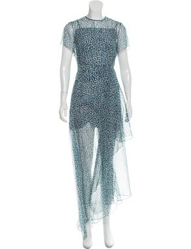 Sheer Accented Silk Dress by Jonathan Saunders