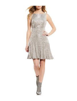 Cynthia Metallic Sequin Dress by Gianni Bini