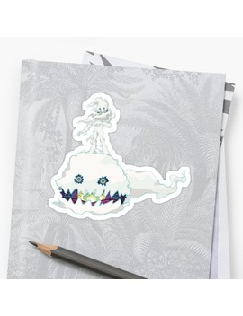 Kids See Ghosts Sticker   Kanye West & Kid Cudi by Clarkwd