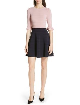Dyana Frilled Knit Minidress by Ted Baker London