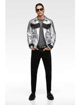 Sweater With Metallic Thread  New Inman by Zara