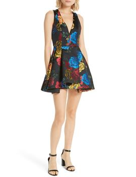 Tanner Asymmetrical Skater Dress by Alice + Olivia