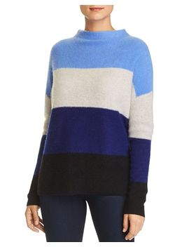 High/Low Striped Cashmere Sweater   100 Percents Exclusive by C By Bloomingdale's