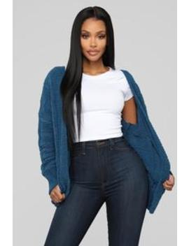 Better In Your Arms Cardigan   Teal by Fashion Nova