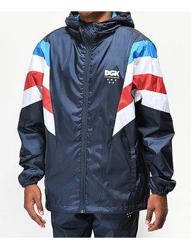 Dgk Blaze Navy Blue Windbreaker Jacket by Dgk