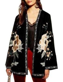Stevie Velvet Kimono by Topshop