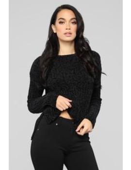 Way To Go Sweater   Black by Fashion Nova