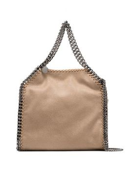 Beige Falabella Mini Tote Bag by Stella Mc Cartney
