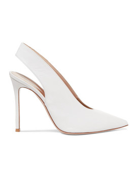 100 Leather Slingback Pumps by Gianvito Rossi
