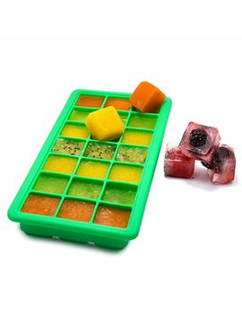 Tigex Pro Silicone Ice Cube Tray With Lid, 21 Ice Cubes Tray Bpa Free, Food Grade Silicone Ice Cube Storage Tray, Baby Food Silicone Mold, Flexible Ice Cube Tray by Tigex Pro