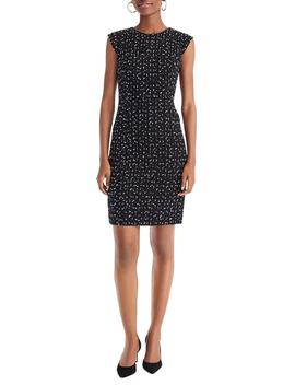 Tweed Cap Sleeve Sheath Dress by J.Crew