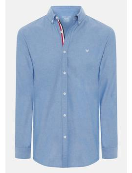 Blue Poker Slim Casual Shirt by Connor