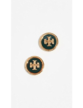 Enamel Logo Stud Earrings by Tory Burch