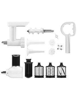Kitchen Aid Stand Mixer Attachment Pack: Grinder, Slicer/Shredder, Sausage Kit by Kitchenaid