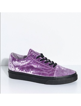 Purple Velvet Vans. Worn Once!!Preowned/Used by Vans