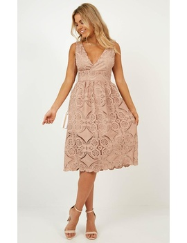 Say Youre Sorry Dress In Dusty Rose Lace by Showpo Fashion