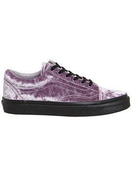 Vans Unisex Old Skool Velvet Skate Shoes Velvet Gray by Vans
