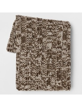 Cable Knit Throw Blanket   Gray   Threshold™ by Shop Collections