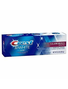 Crest 3 D White Luxe Glamorous White Toothpaste 3 Pack Removes 90 Percents Of Surface Stains by Procter & Gamble