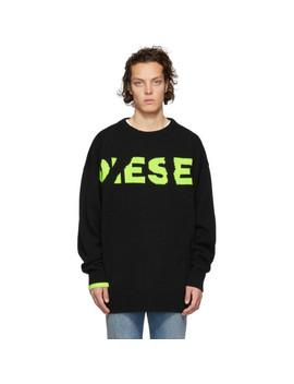 Black K Logox Sweater by Diesel