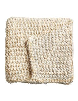 Gold Chunky Knit Throw by Pier1 Imports