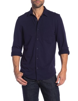 Knit Button Front Shirt by 14th & Union