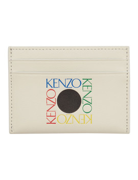 White Square Logo Card Holder by Kenzo