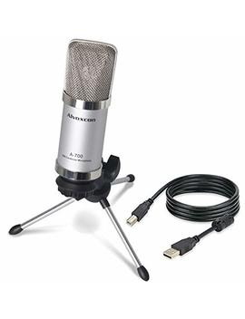Usb Microphone, Alvoxcon Unidirectional Condenser Mic For Computer, Pc (Mac/Windows), Podcasting, Vlog, Youtube, Studio Recording, Skype, Stream, Voice Over, Vocal Dictation With Desktop Tripod Stand by Alvoxcon