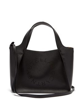 Stella Perforated Logo Faux Leather Tote Bag by Stella Mc Cartney