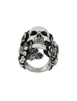Embellished Skull Ring by Ugo Cacciatori