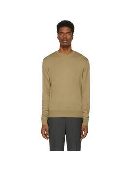 Tan Cashmere Travel Sweater by Neil Barrett