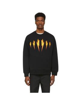 Black Firebolt Sweatshirt by Neil Barrett