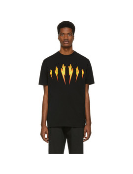 Black Firebolt T Shirt by Neil Barrett