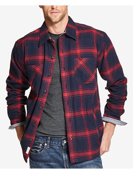 Mens Plaid Flannel Shirt Jacket, Created For Macys by Weatherproof Vintage