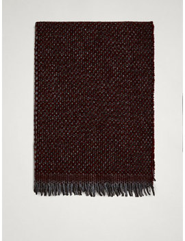 Two Tone Textured Wool Scarf by Massimo Dutti