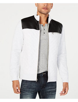 I.N.C. Men's Faux Fur Lined Faux Leather Jacket, Created For Macy's by Inc International Concepts