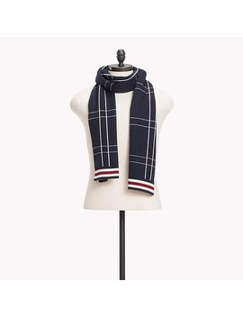 Check Knit Scarf by Tommy Hilfiger