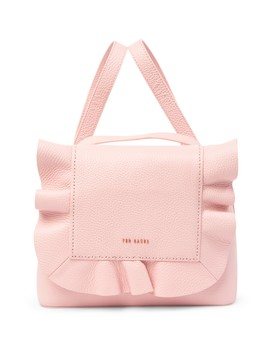 Rammira Leather & Cottoned On Ruffle Convertible Lady Bag by Ted Baker London
