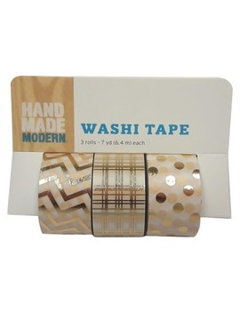 Hand Made Modern   Washi Tape, 3pk   Gold Patterned by Hand Made Modern