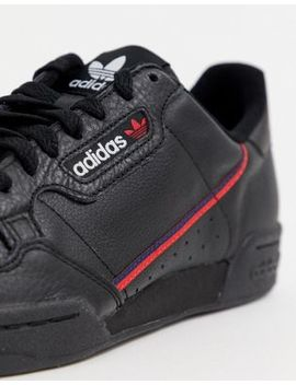 adidas-originals-continental-80-sneakers-black-g27707 by adidas-originals