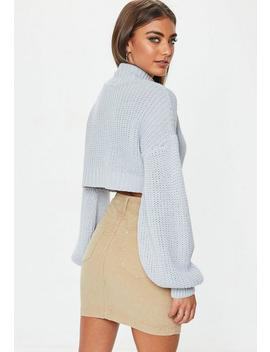 Stone Superstretch Corduroy Mini Skirt by Missguided