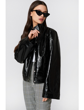 Wide Sleeve Patent Jacket by Na Kd Trend