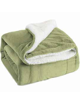 Bedsure Christmas Metallic Sherpa Fleece Blanket Throw Size Red Plush Throw Blanket Fuzzy Soft Blanket Microfiber by Bedsure