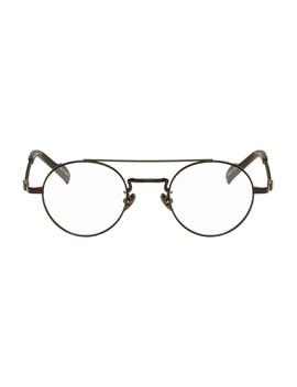 Black Braided Round Glasses by Yohji Yamamoto