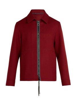 Zip Fastening Wool Jacket by Lanvin