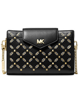 Floral Stitched Crossbody Clutch by Michael Michael Kors