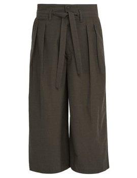 Hakama Wool And Silk Blend Trousers by Sasquatchfabrix